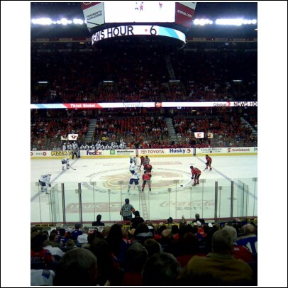 Calgary Saddledome Face off